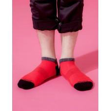 運動氣墊船短襪-紅色