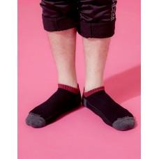 運動氣墊船短襪-黑色