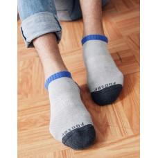 運動氣墊船短襪-灰色
