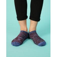 流線拼接氣墊船短襪-藍頭