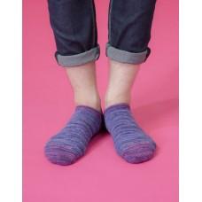 流線拼接氣墊船短襪-紫頭