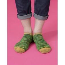 流線拼接氣墊船短襪-黃頭