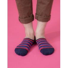 五線譜船短隱形襪-藍色