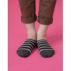 五線譜船短隱形襪-深灰
