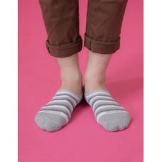 五線譜船短隱形襪-淺灰