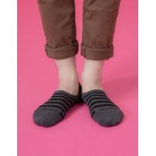 經典條紋船短隱形襪-深灰
