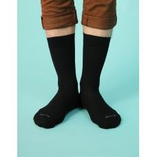 紳士素面長襪-黑色