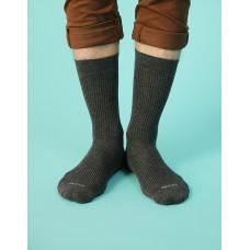 紳士素面長襪-灰色
