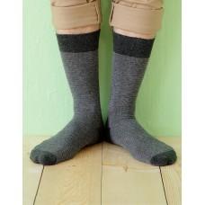日本麻繩設計款紳士長薄襪-灰色