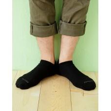 微分子氣墊單色船型薄襪 - 黑色