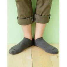 微分子氣墊單色船型薄襪 - 深灰