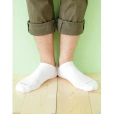 微分子氣墊單色船型薄襪 - 白色