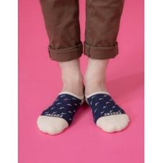 西部牛仔船短隱形襪-米色