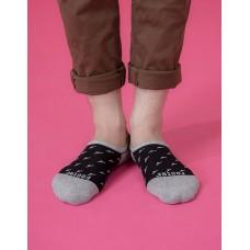 西部牛仔船短隱形襪-灰色