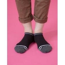 簡約生活微分子船短襪-黑色