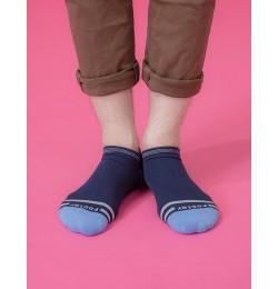 簡約生活微分子船短襪-藍色