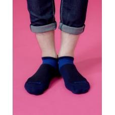全薄款輕壓力足弓船短襪-藍色