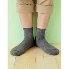 微分子氣墊單色長薄襪-深灰