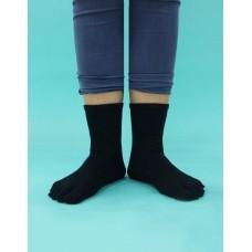 紳士素面五趾長襪-黑色