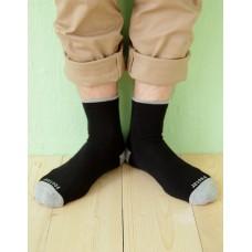 日系雙色設計款單色長薄襪-灰色