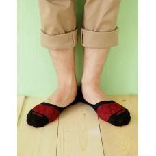 網狀超低矽膠防滑船短襪-黑色