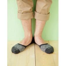 網狀超低矽膠防滑船短襪-灰色