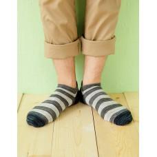 混搭條紋船短襪-藍頭