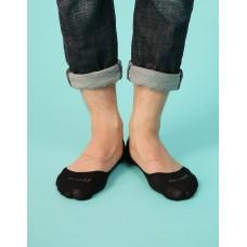 單色超低矽膠防滑船短襪-黑色