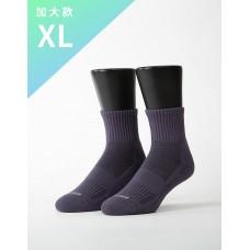 素色美學氣墊運動襪-灰藍-XL加大款