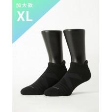 X型減壓經典護足船短襪-黑色-XL加大款