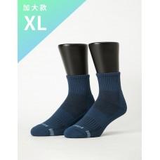 單色運動逆氣流氣墊襪-藍色-XL加大款