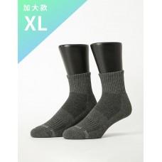 單色運動逆氣流氣墊襪-深灰-XL加大款