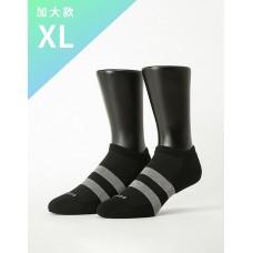 街頭運動風微分子船短襪-黑色-XL加大款