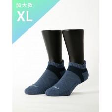 暖陽麻花輕壓力足弓船短襪-深藍-XL加大款
