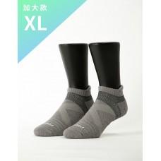 暖陽麻花輕壓力足弓船短襪-淺灰-XL加大款