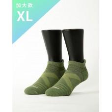 暖陽麻花輕壓力足弓船短襪-綠色-XL加大款