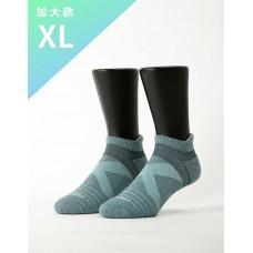 暖陽麻花輕壓力足弓船短襪-淺藍-XL加大款