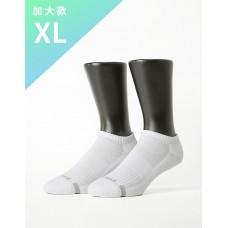 單色運動逆氣流氣墊船短襪-白色-XL加大款