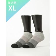 漸層果凍微分子船短襪-黑邊-XL加大款