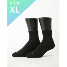 復古直線條微分子長薄襪-黑色XL加大款
