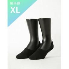 微氣墊波浪超低隱形襪-黑色-XL