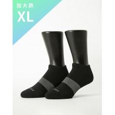 時光秘徑運動船短襪-黑色-XL加大款