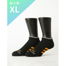 輕壓力三線運動除臭襪-黑色-XL加大款
