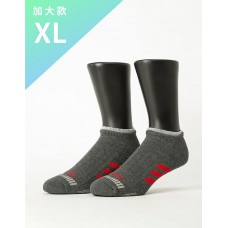 輕壓力三線運動除臭襪-灰色-XL加大款