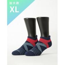 X型雙向減壓足弓船短襪-深藍-XL加大款