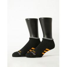 輕壓力三線運動除臭襪-黑色