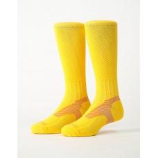 Y系列中統運動機能輕壓力襪 - 黃色