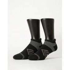 雙側翼護足輕壓力船短襪-黑色