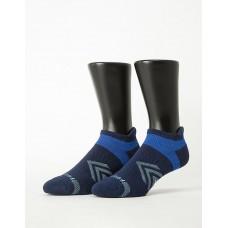 雙側翼護足輕壓力船短襪-深藍