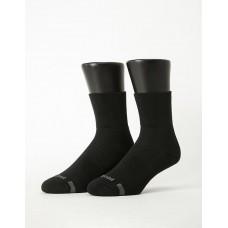 寬口運動逆氣流氣墊襪-黑色
